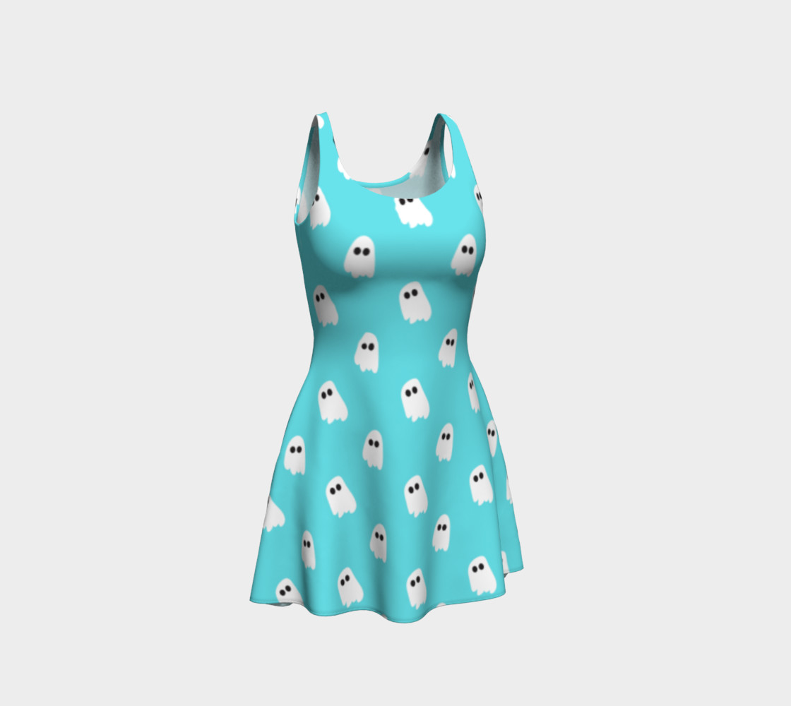 Marshmallow Ghosties Flare Dress preview #1