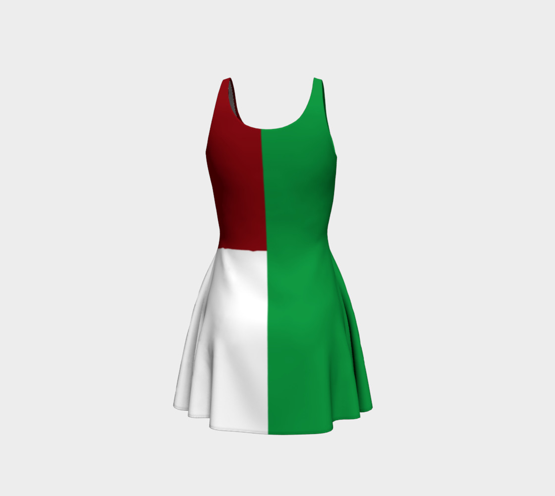 Italian Flag Flare Dress preview #3