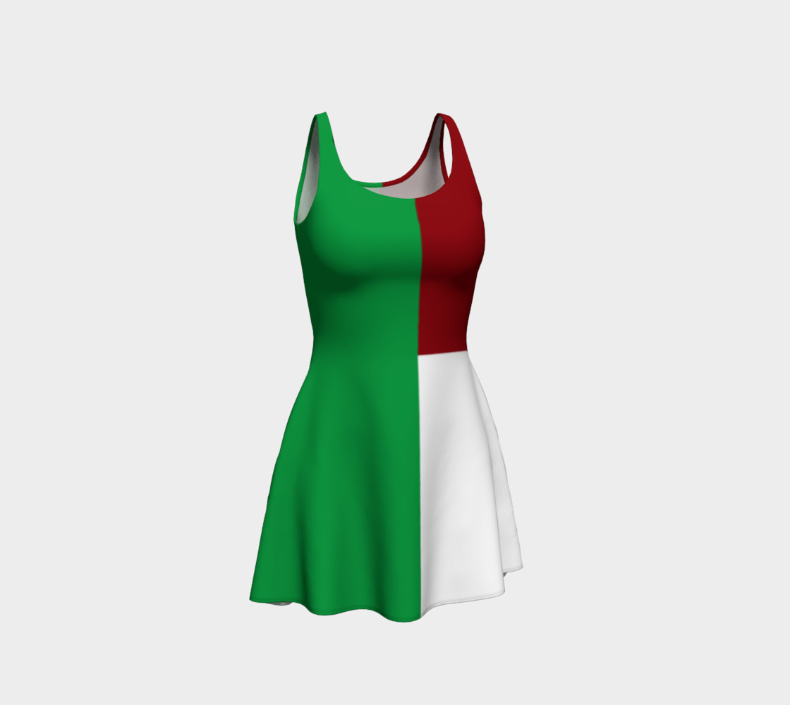 Italian Flag Flare Dress preview #1