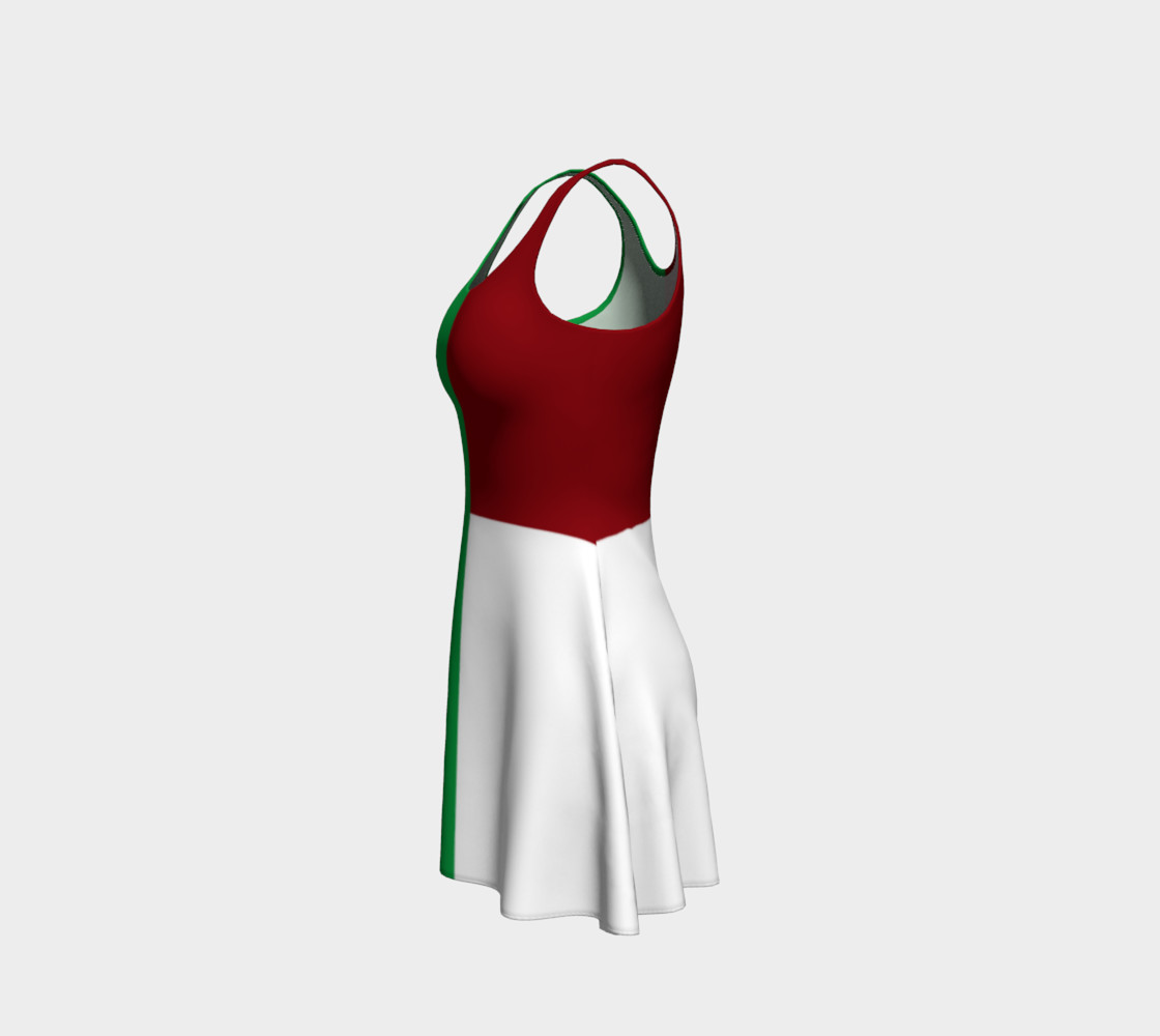 Italian Flag Flare Dress preview #2