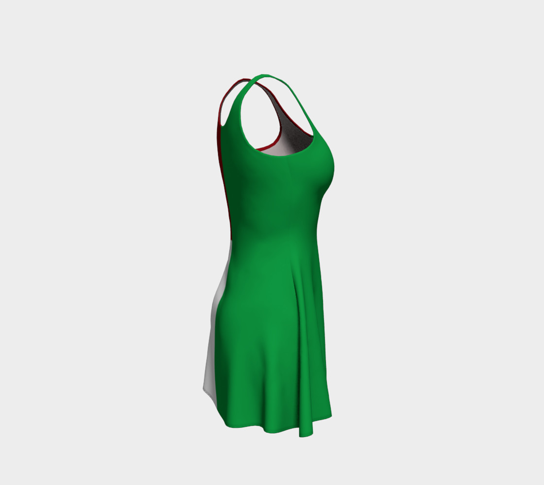 Italian Flag Flare Dress preview #4