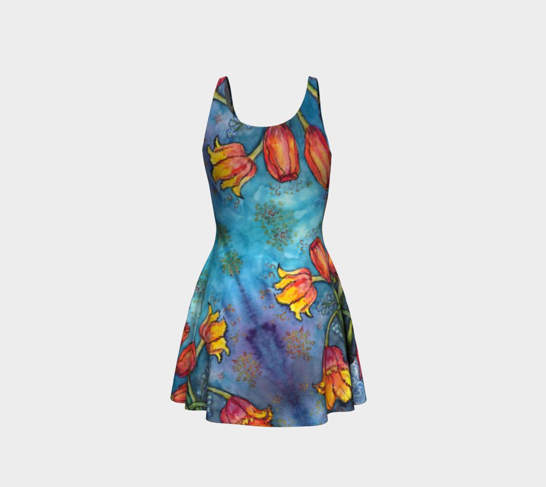 Aperçu de Watercolor Tulips - Flare Dress 1 #3