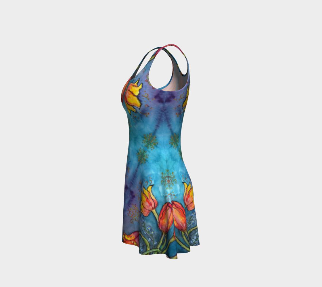 Aperçu de Watercolor Tulips - Flare Dress 1 #2