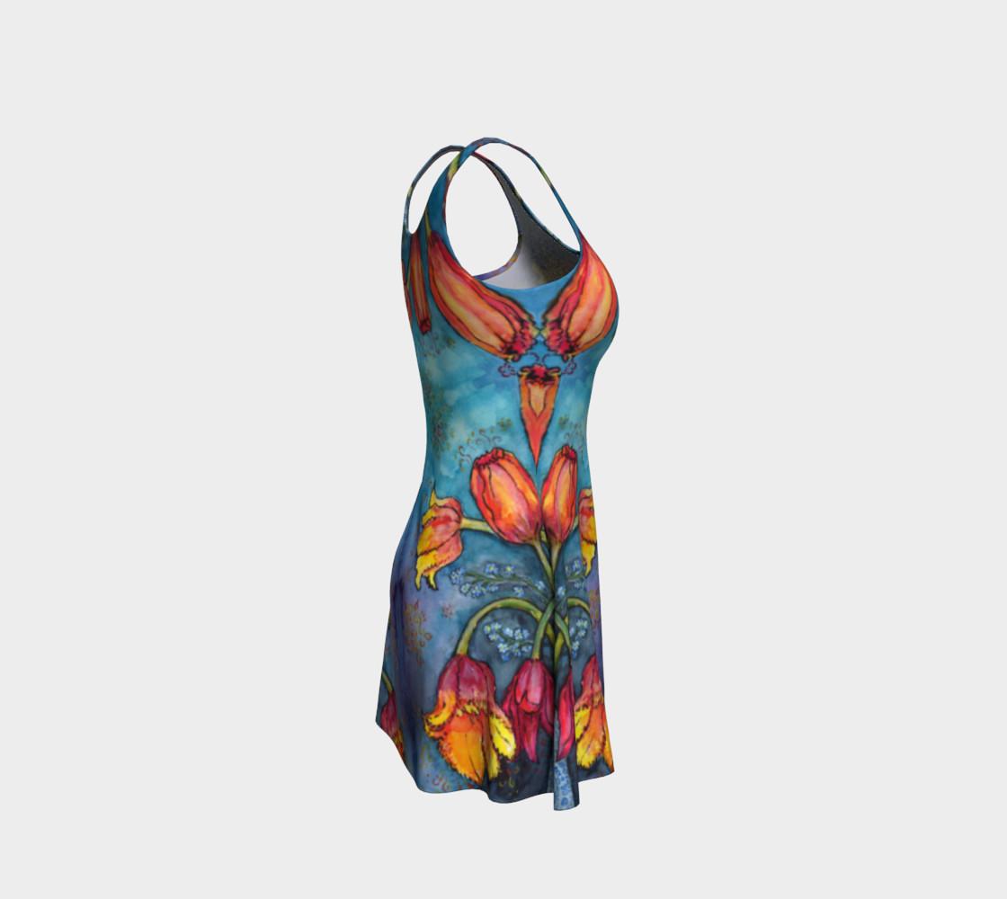 Aperçu de Watercolor Tulips - Flare Dress 1 #4