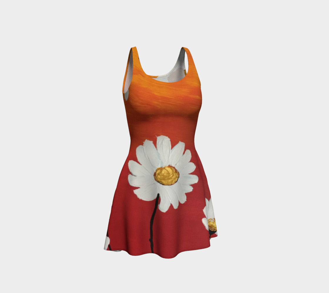 Daisy Sunset Flare Dress 3D preview