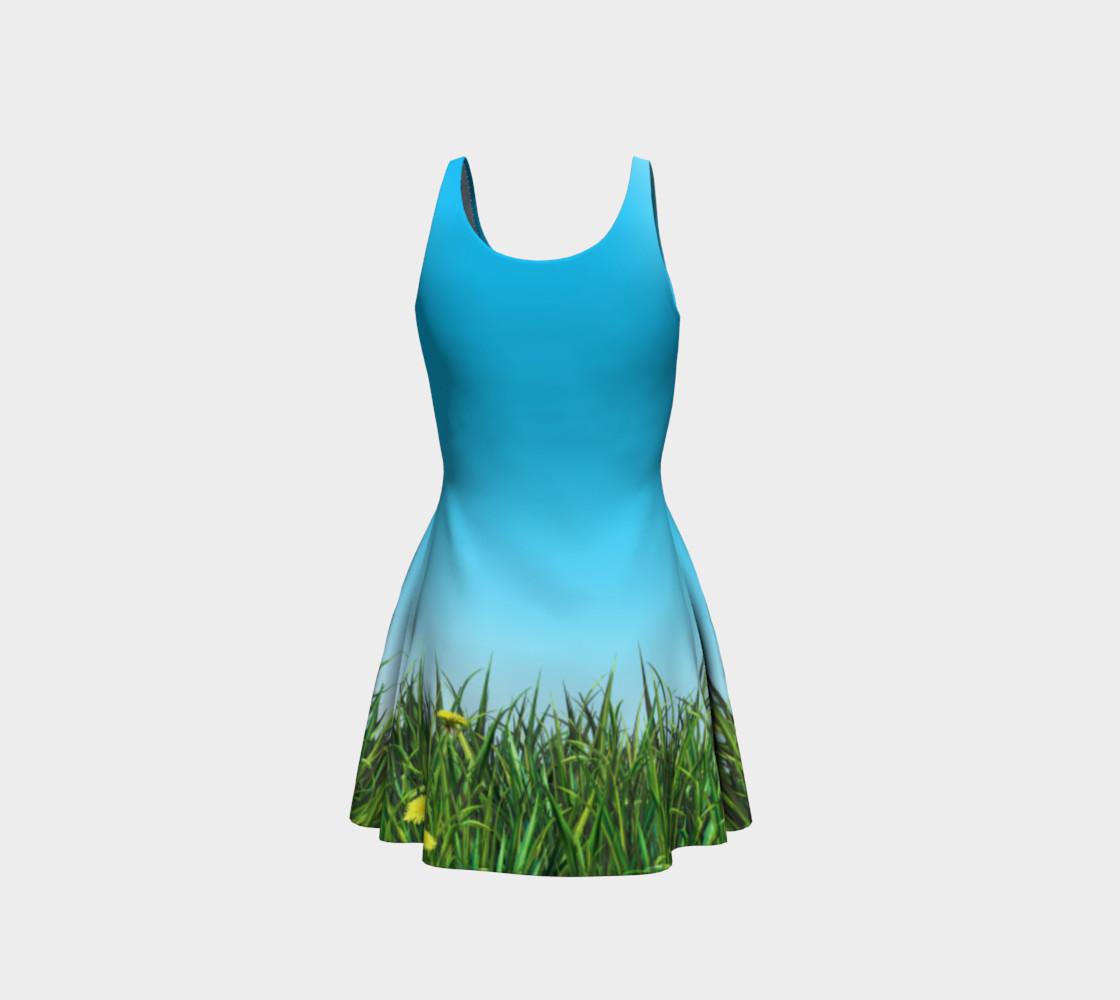 Green dandelion field preview #3