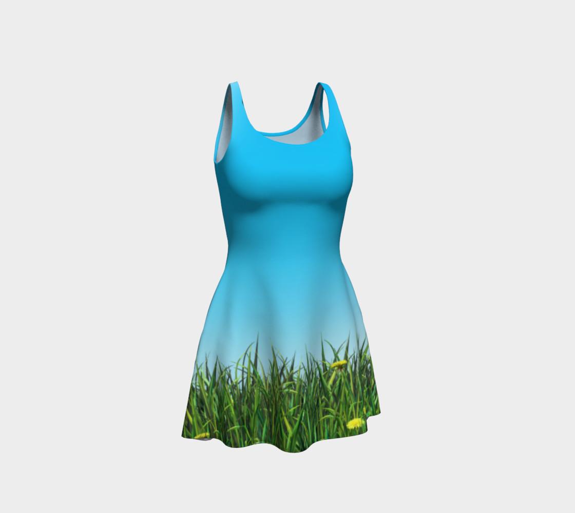 Green dandelion field preview #1