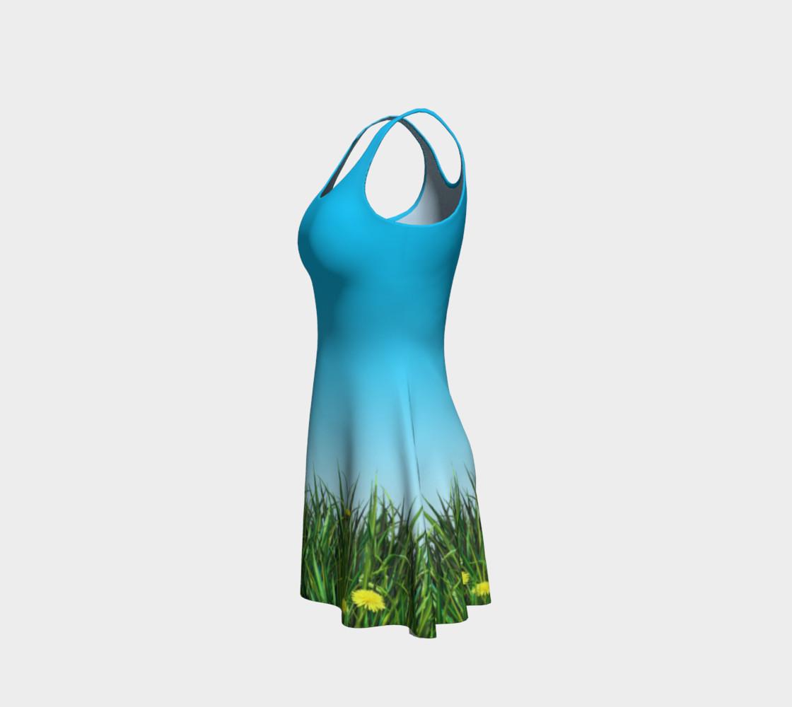 Green dandelion field preview #2