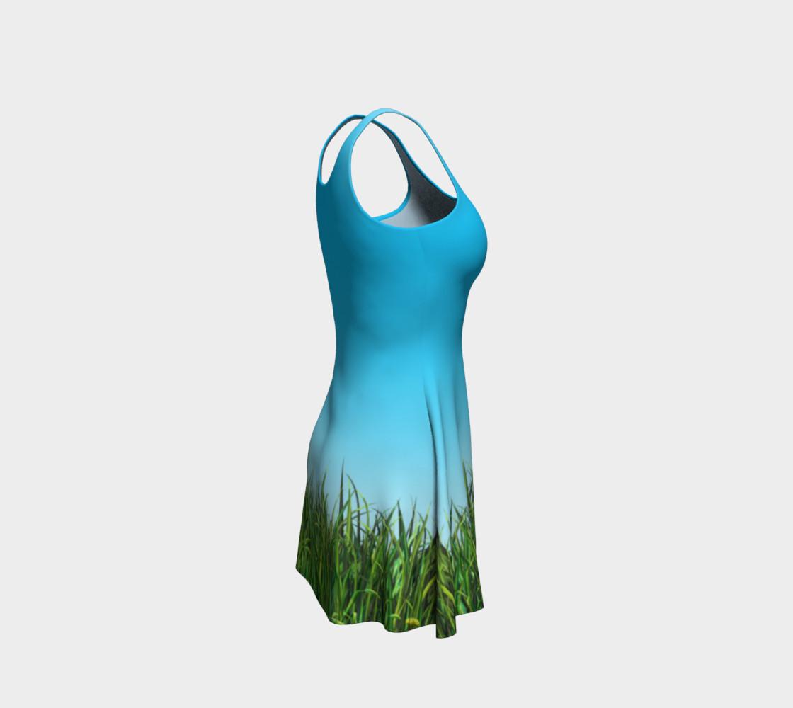 Green dandelion field preview #4