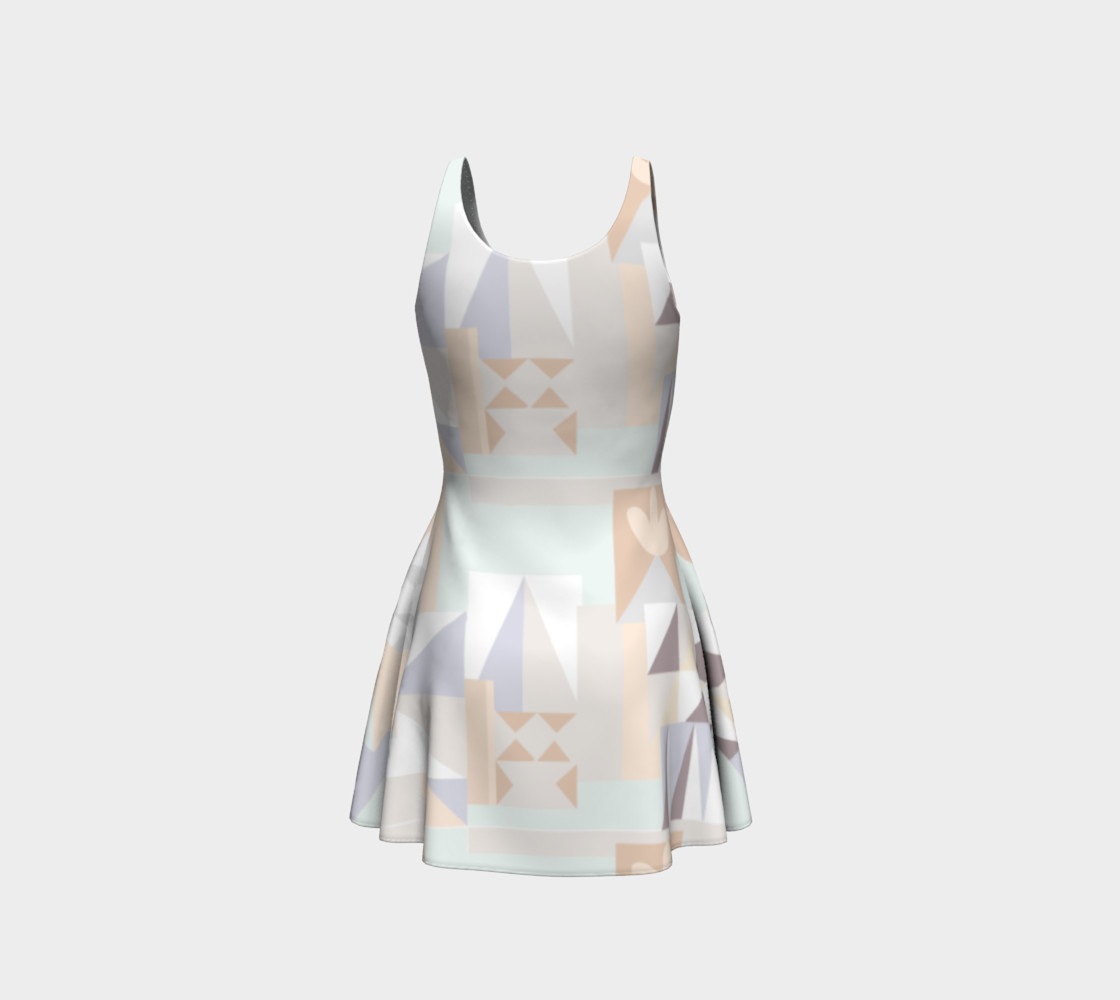White Crystal Pattern Dress preview #3