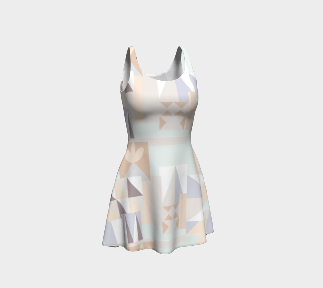 White Crystal Pattern Dress preview #1