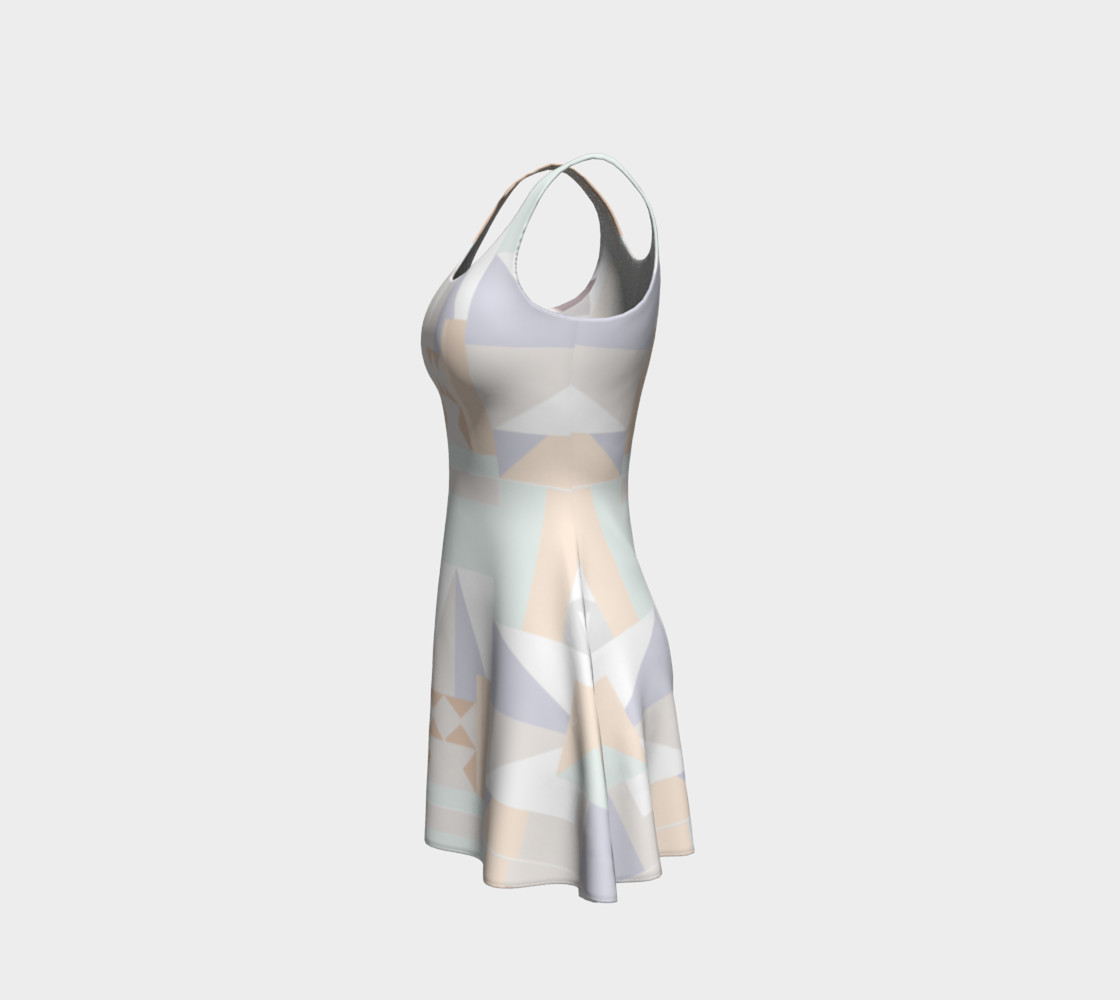 White Crystal Pattern Dress preview #2