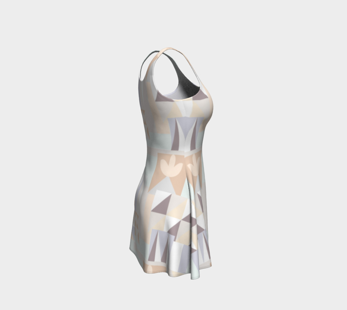 White Crystal Pattern Dress preview #4