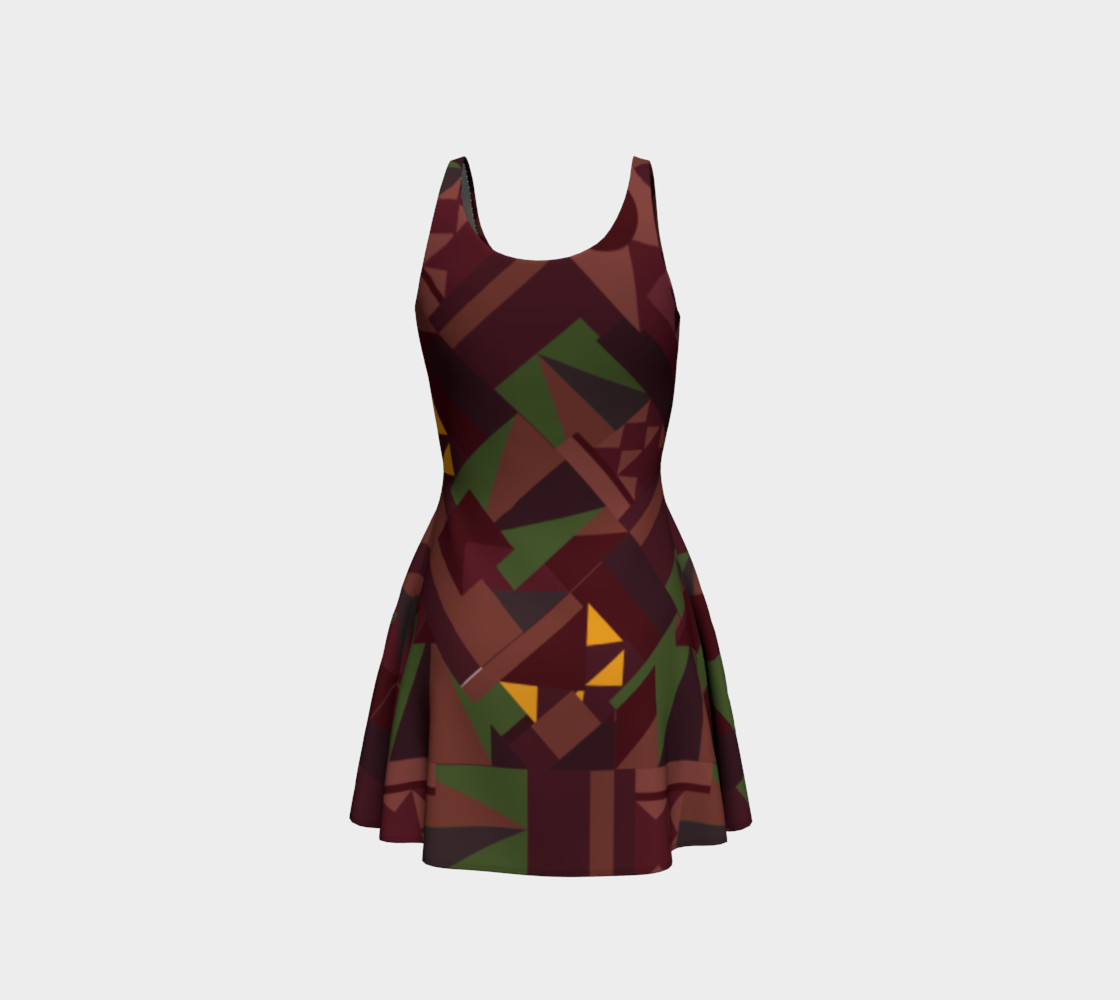 Tiki Inspired Pattern Dress preview #3