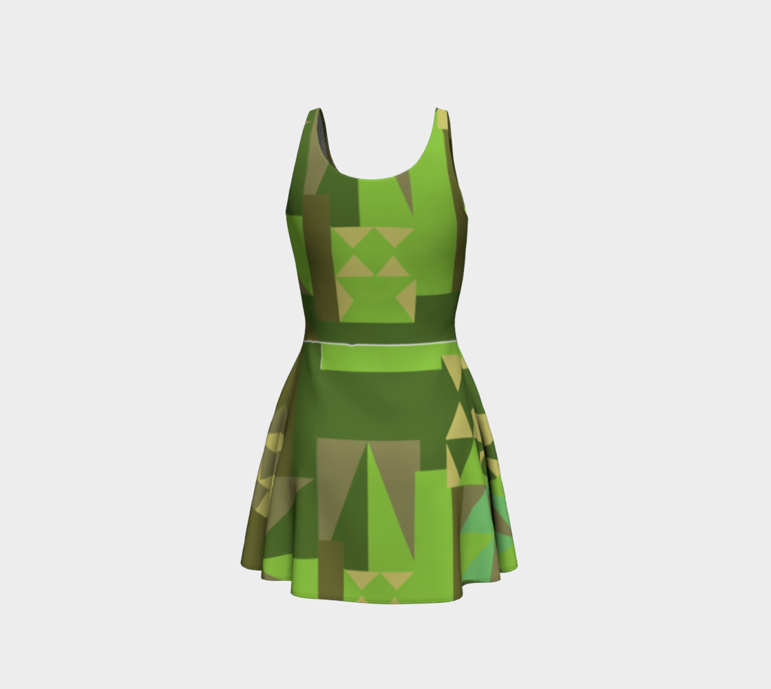 Green Scene Dress preview #3