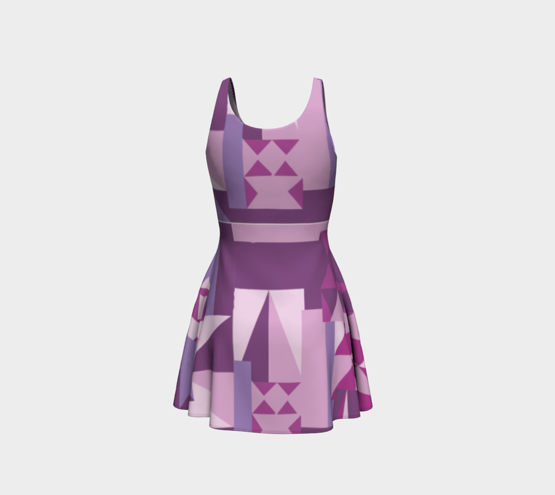Purple All The Way Pattern Dress preview #3