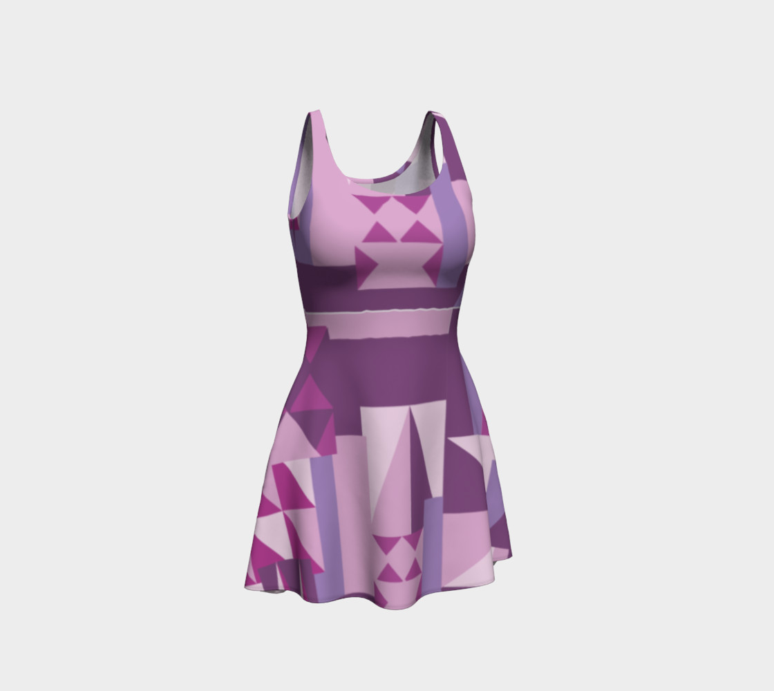 Purple All The Way Pattern Dress preview #1