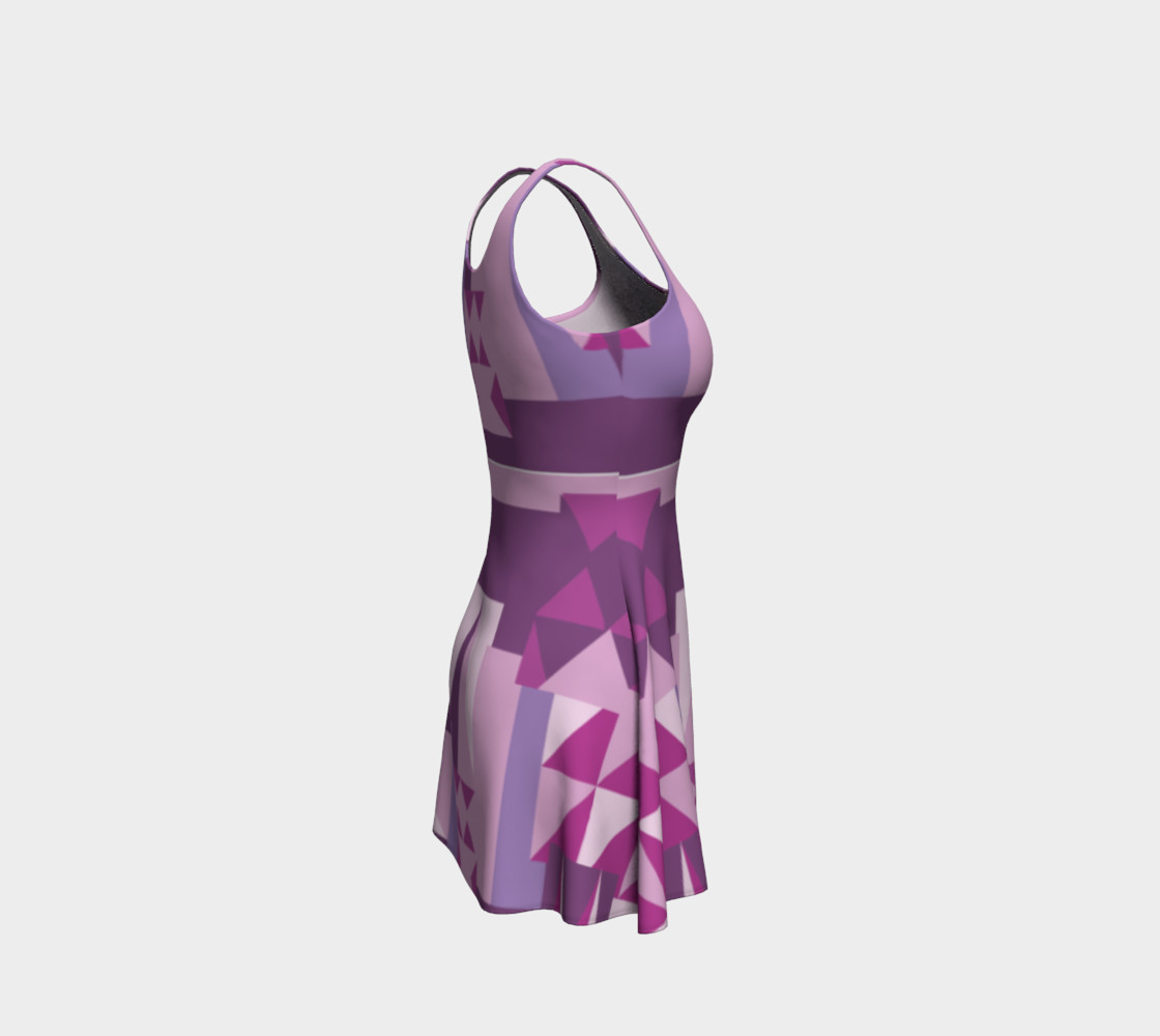 Purple All The Way Pattern Dress preview #4