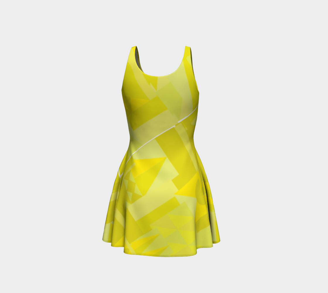 Sunny Yellow Pattern Dress preview #3