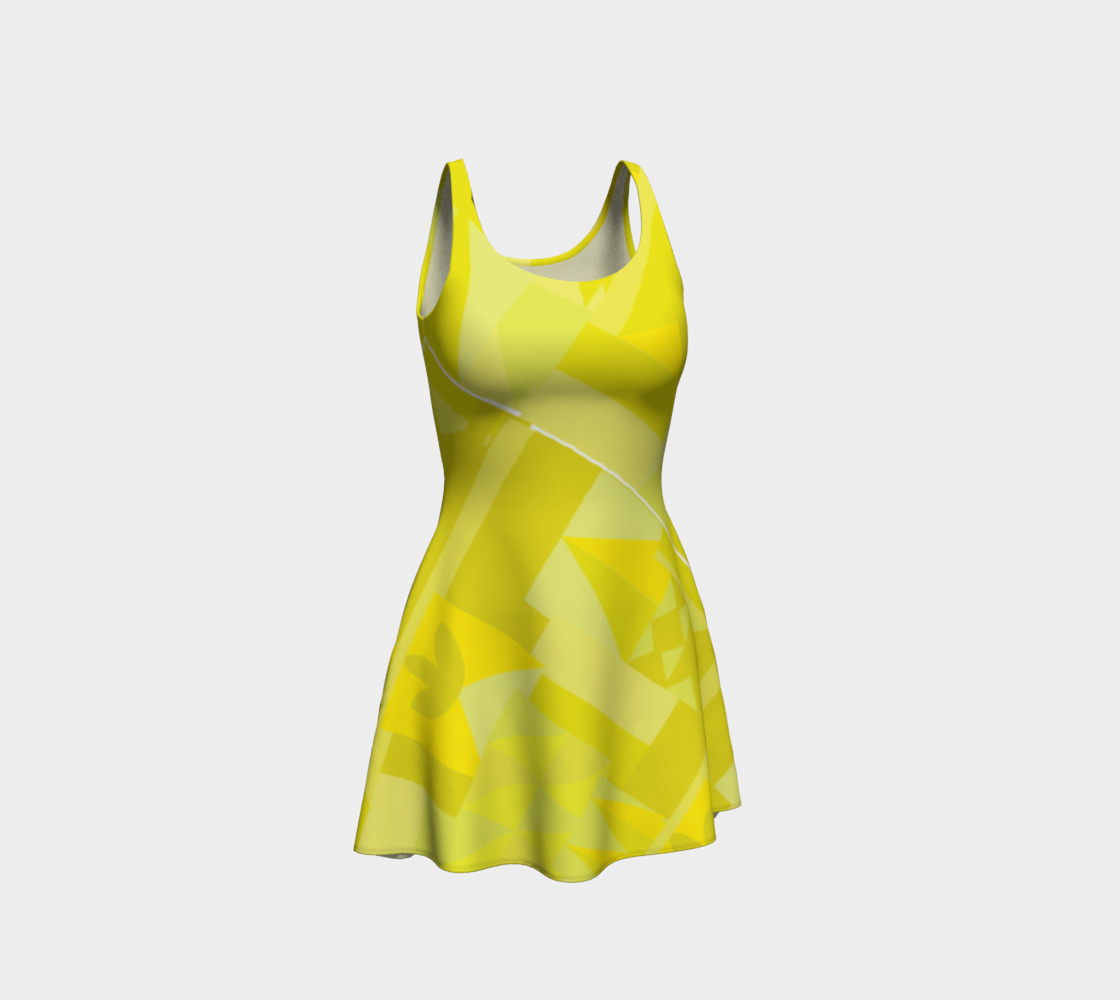 Sunny Yellow Pattern Dress preview #1