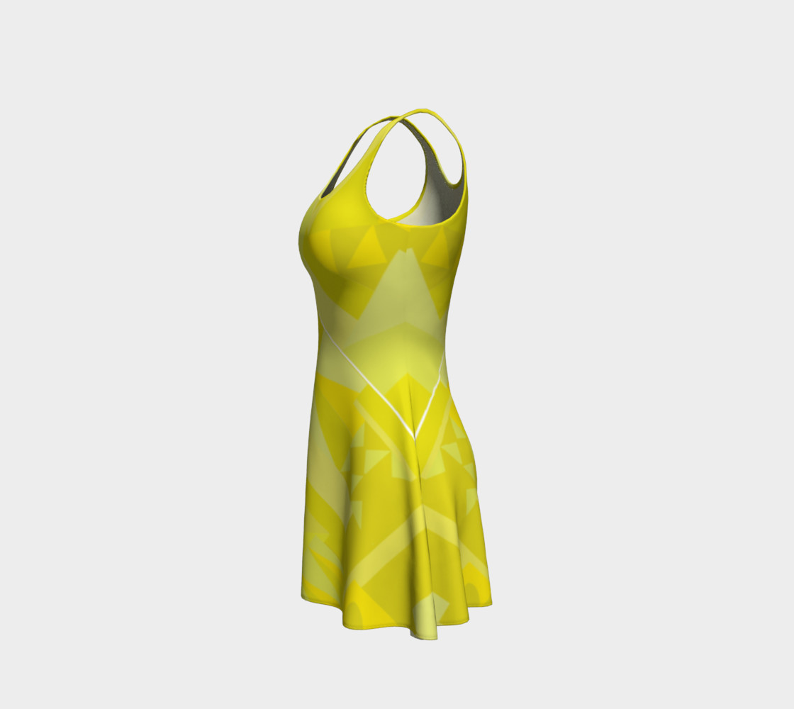 Sunny Yellow Pattern Dress preview #2