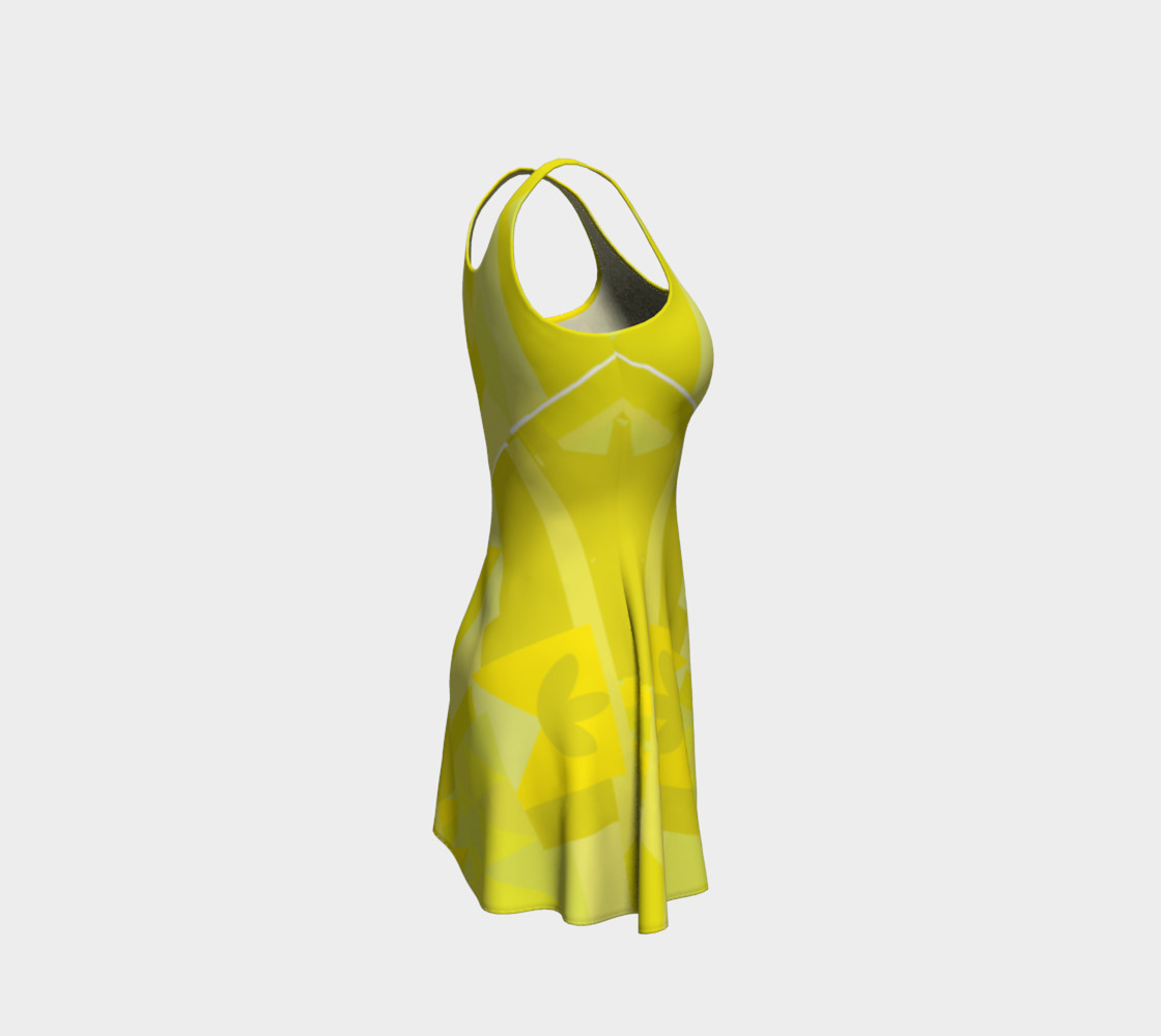 Sunny Yellow Pattern Dress preview #4