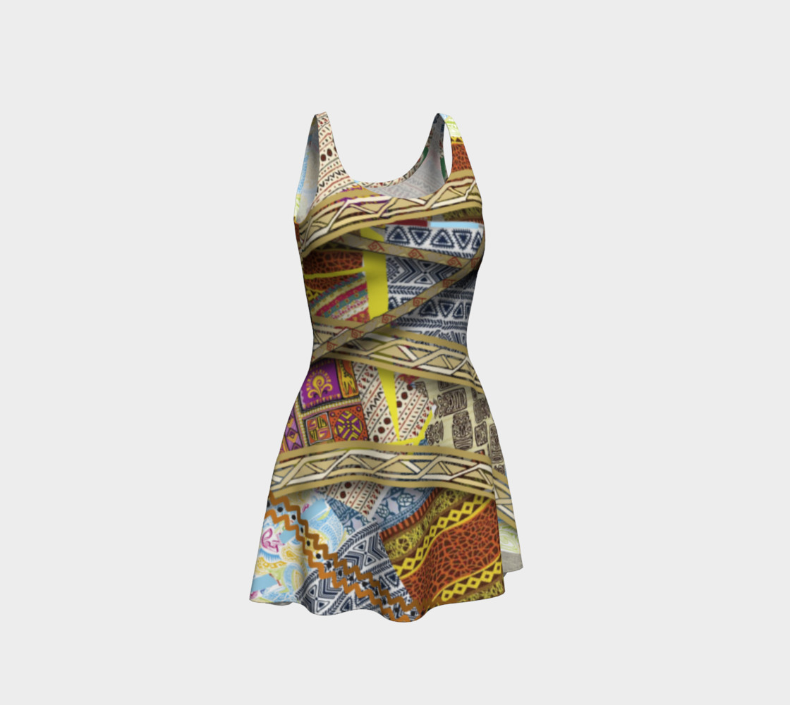 BORDER LAYERED Flare Dress 106-1 preview #1