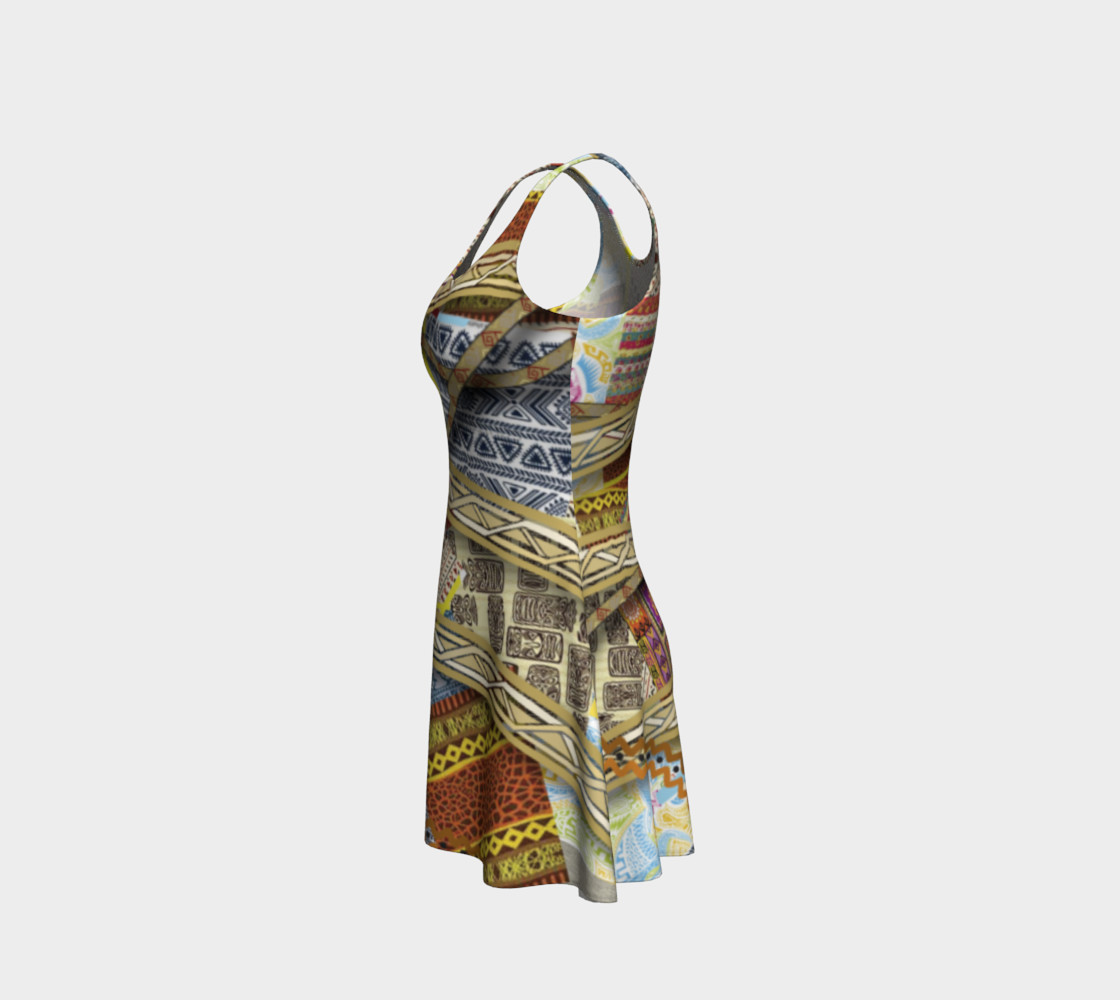 BORDER LAYERED Flare Dress 106-1 preview #2