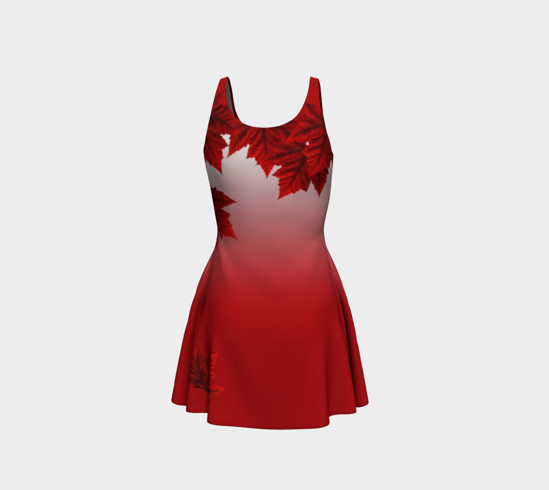 Red Maple Leaf Dress Beautiful Canada Dresses preview #3