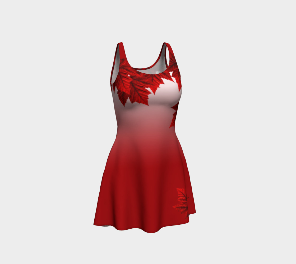 Red Maple Leaf Dress Beautiful Canada Dresses preview #1