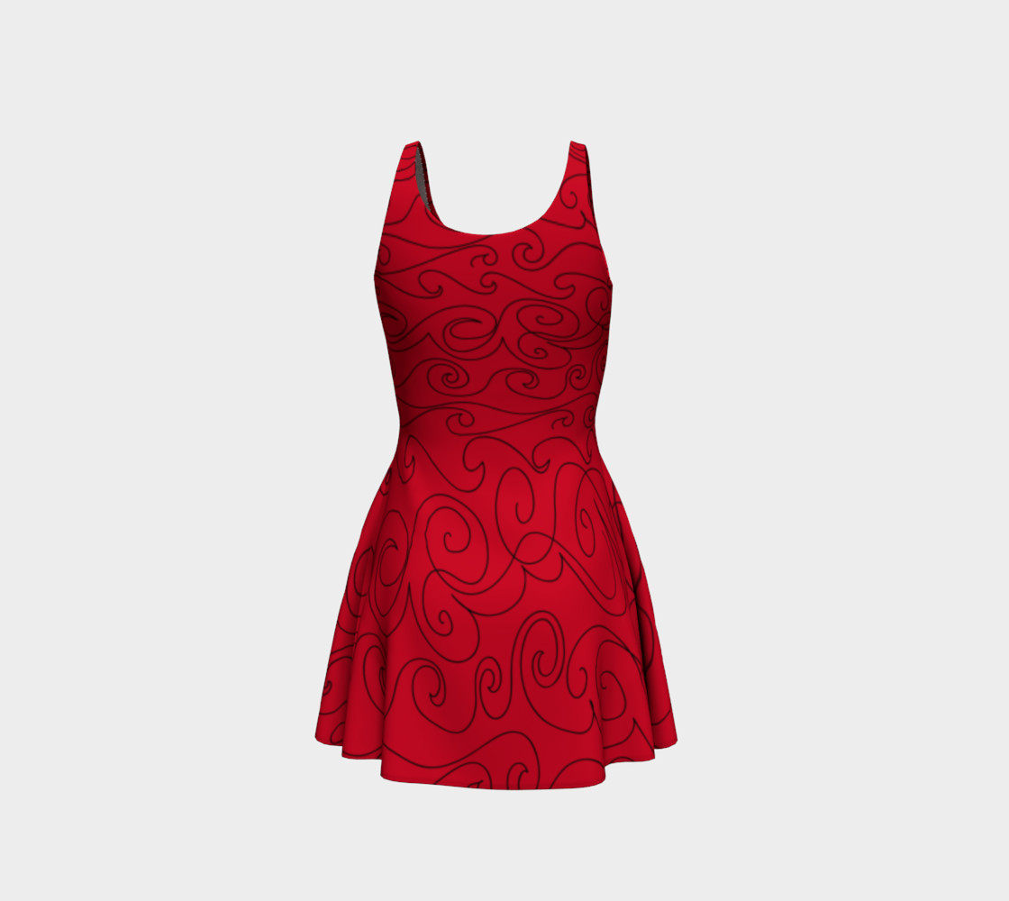Graphite Red Skater Dress preview #3