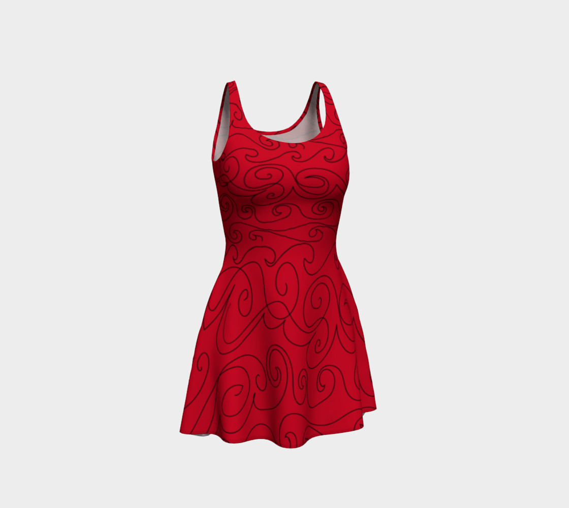 Graphite Red Skater Dress preview #1