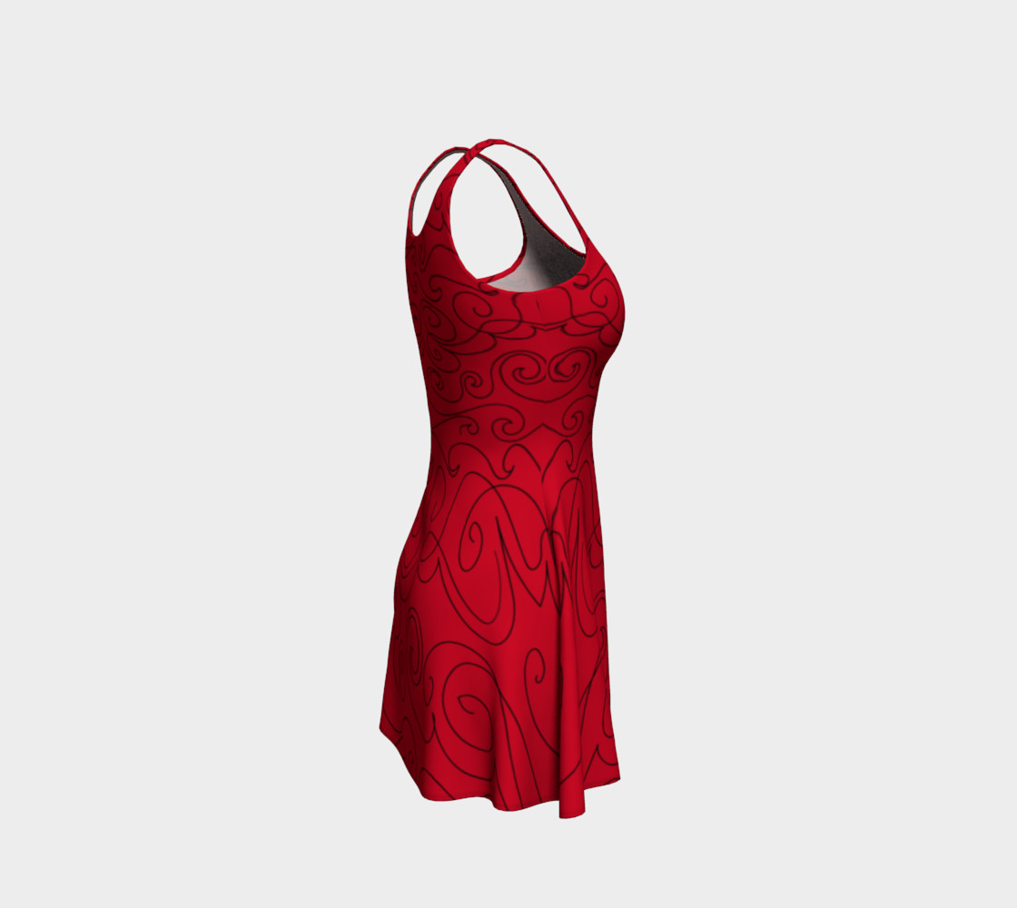 Graphite Red Skater Dress preview #4