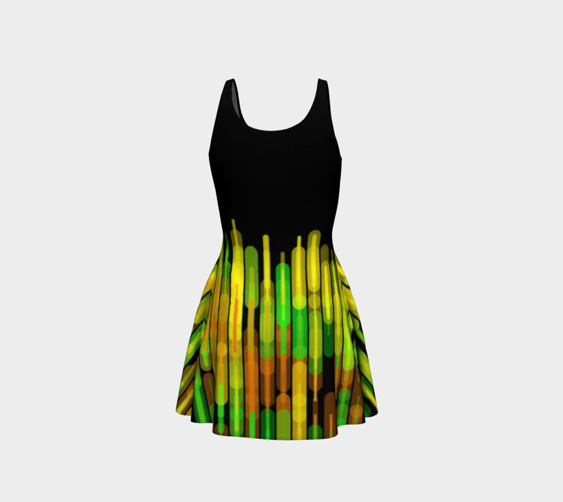 Strobed Lights Black Flare Dress  preview #3