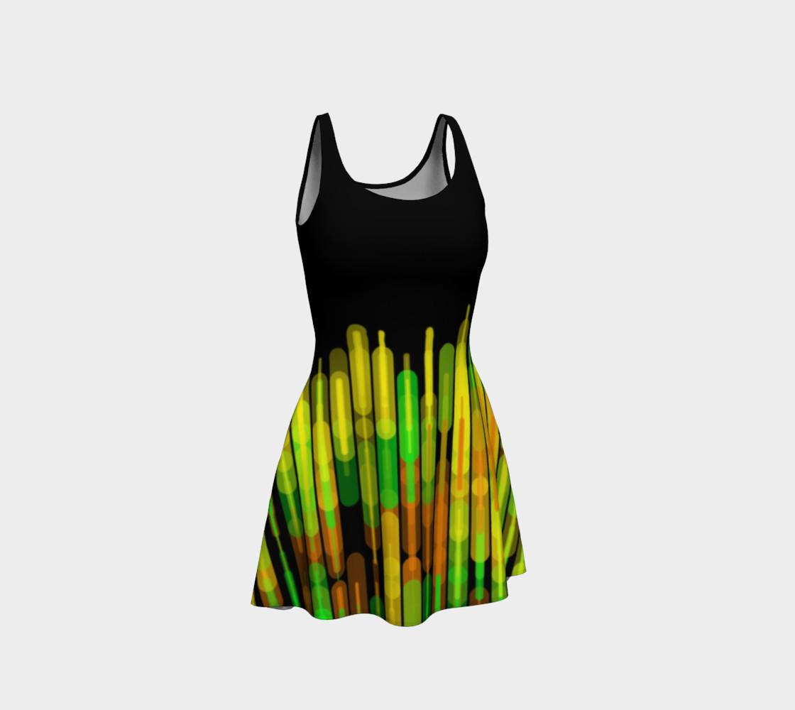 Strobed Lights Black Flare Dress  preview #1