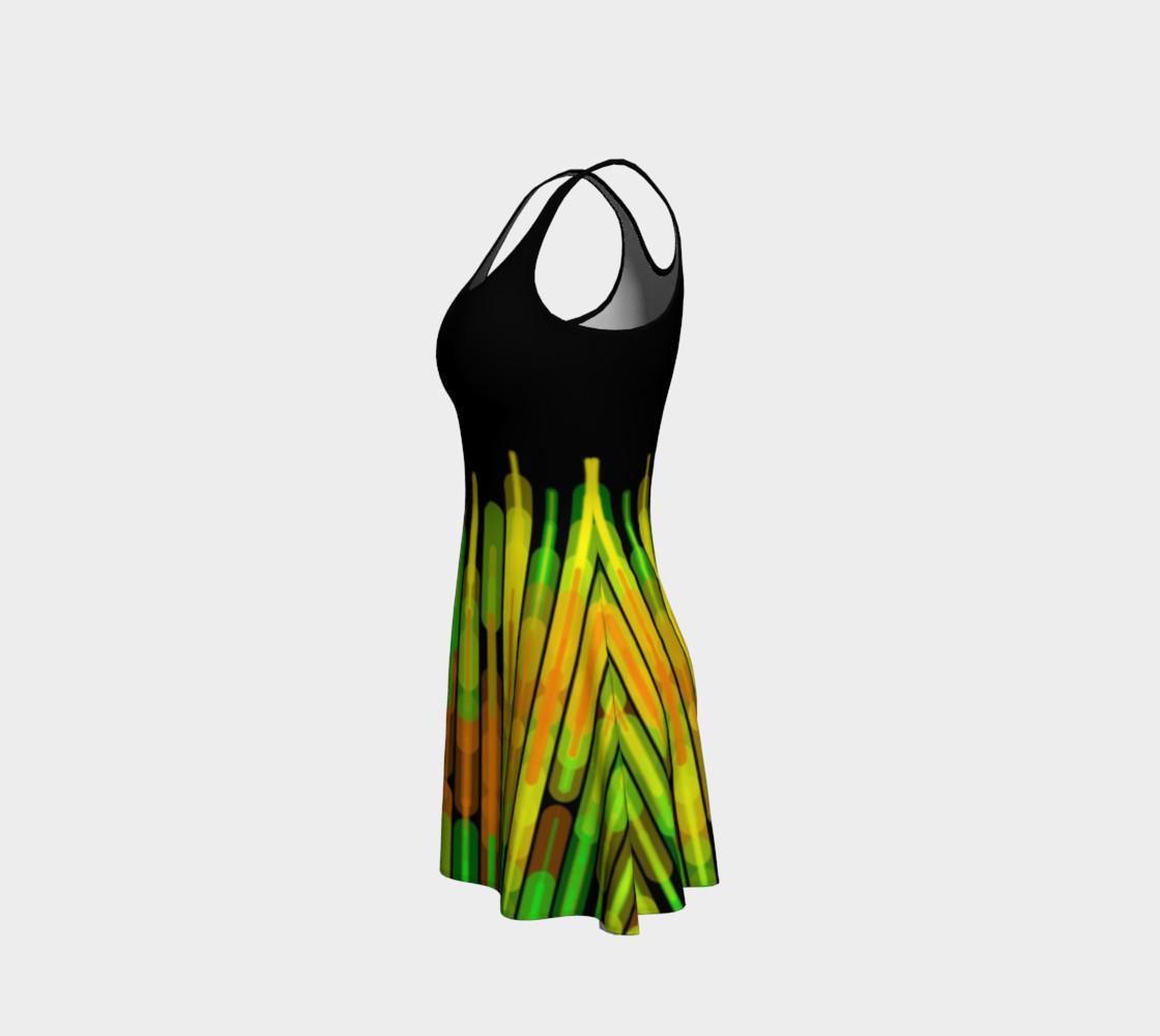 Strobed Lights Black Flare Dress  preview #2