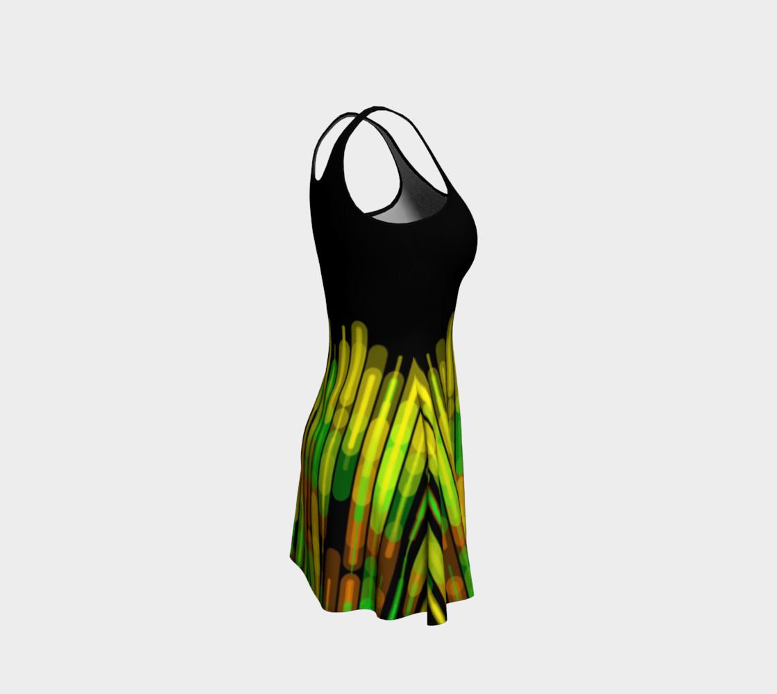 Strobed Lights Black Flare Dress  preview #4