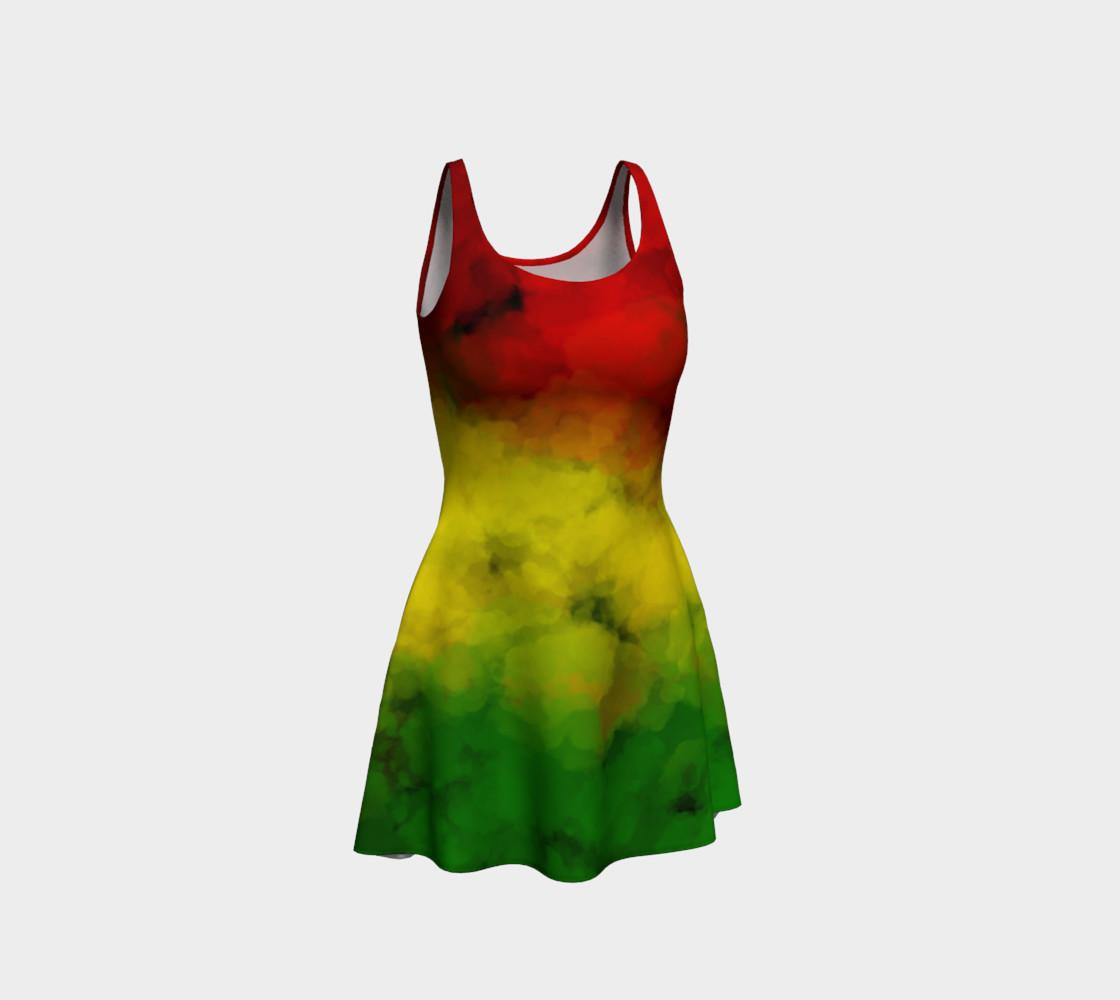 Rasta Watercolor Flare Dress  preview #1