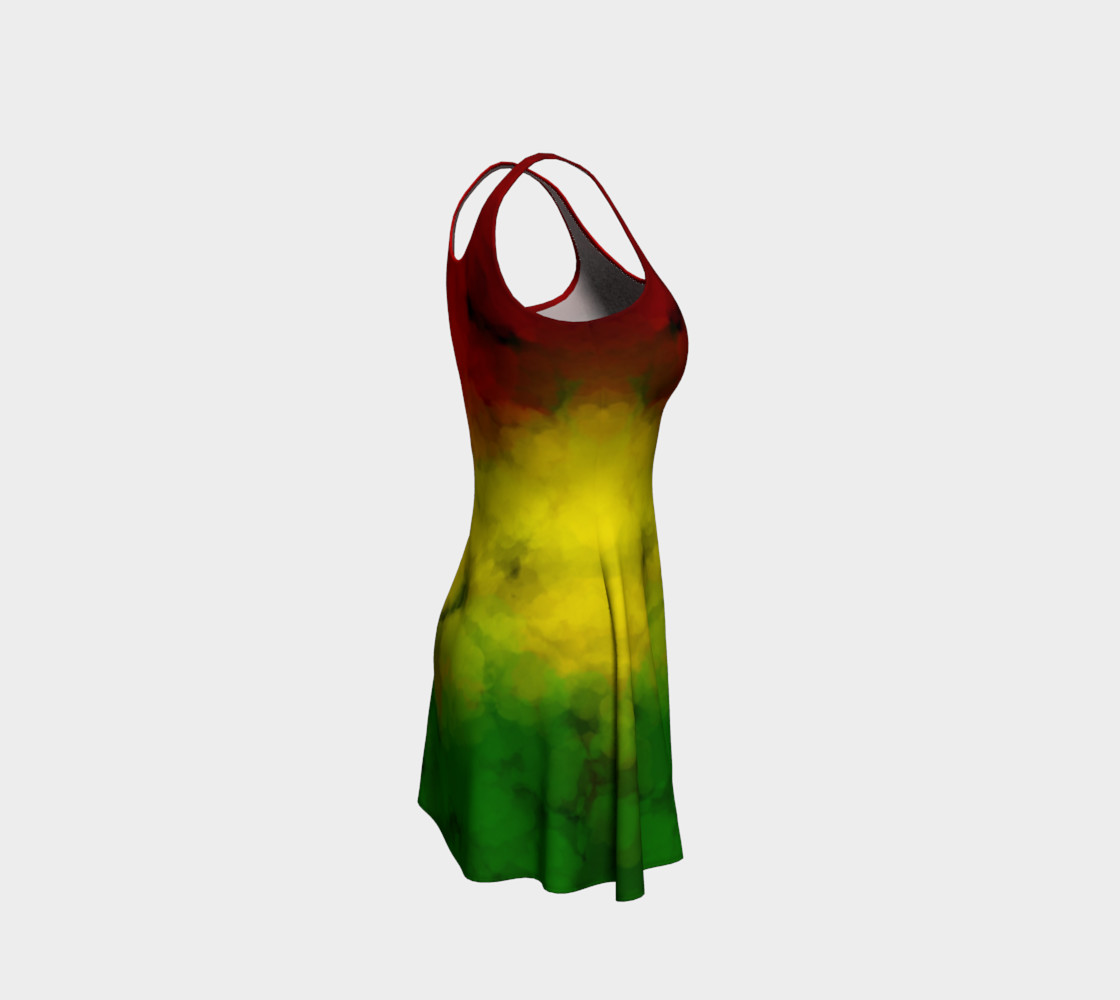 Rasta Watercolor Flare Dress  preview #4