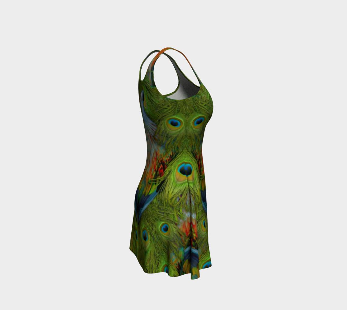 Aperçu de Nicobar-Peacock Fantasy Flare Dress #4