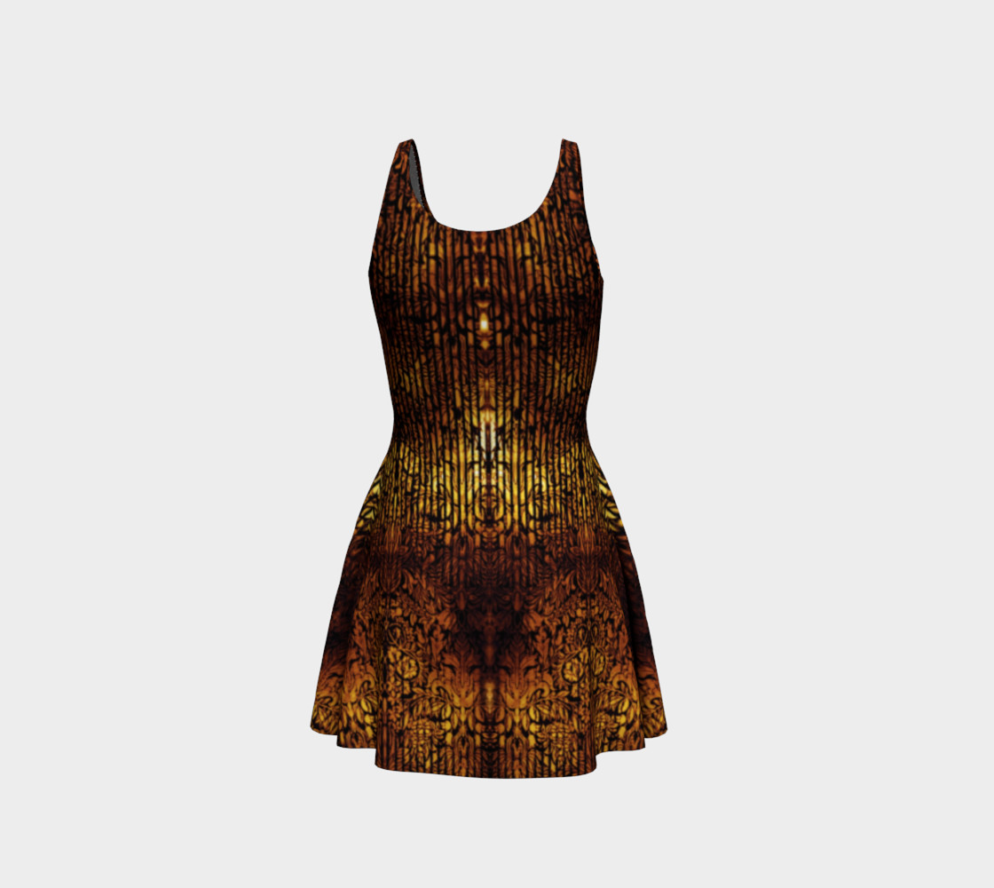 Aperçu de Golden Gate Damask Goth Print by Tabz Jones #3
