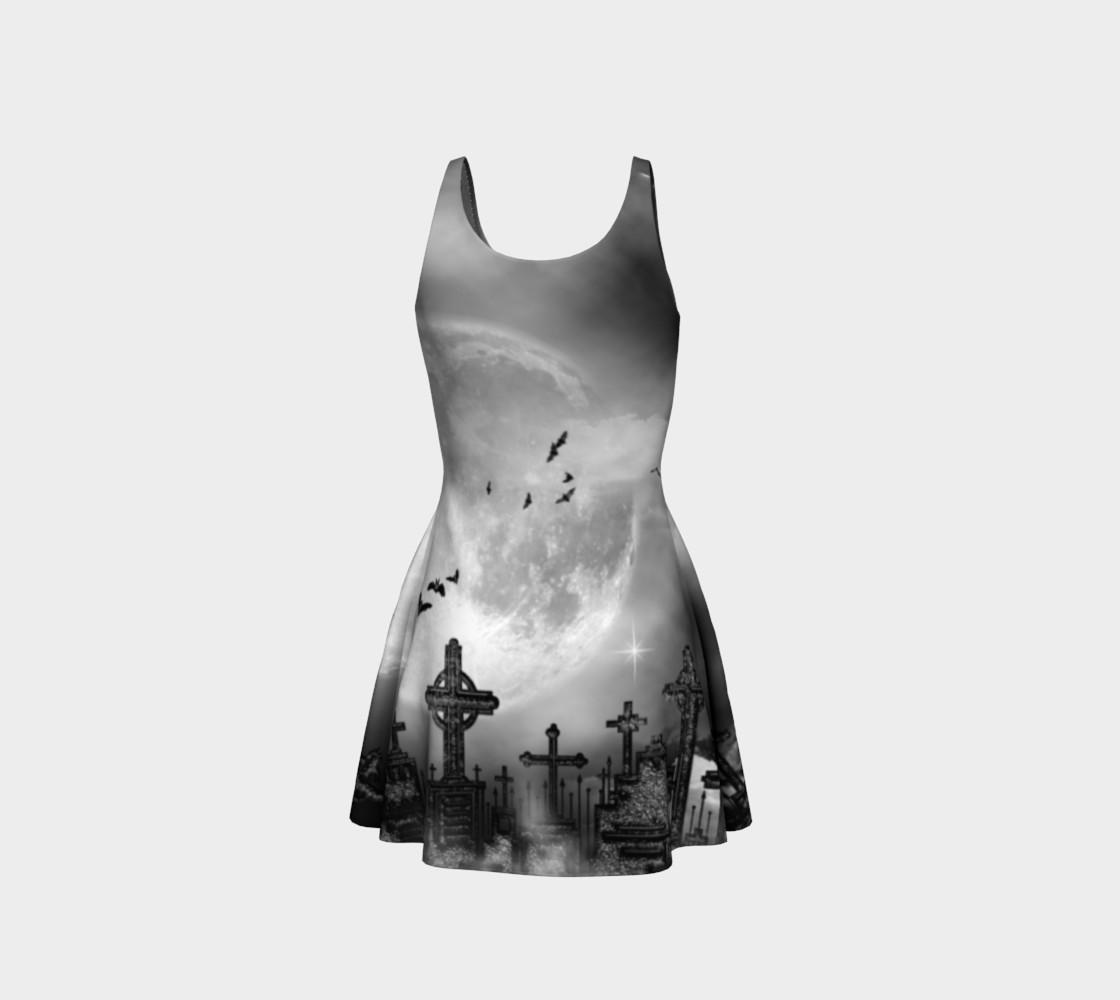 Night Flight Gothic Print Dress by Tabz Jones  preview #3