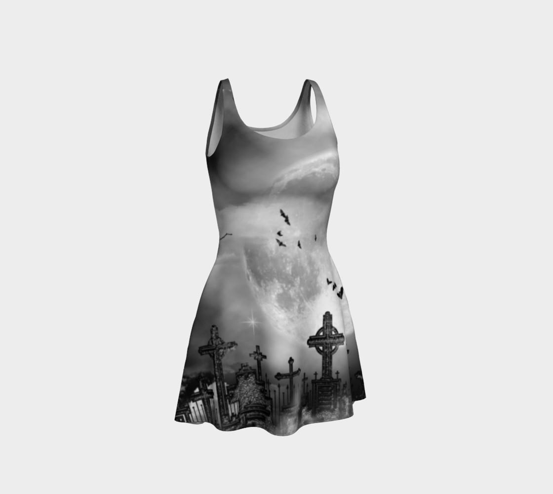 Night Flight Gothic Print Dress by Tabz Jones  preview #1