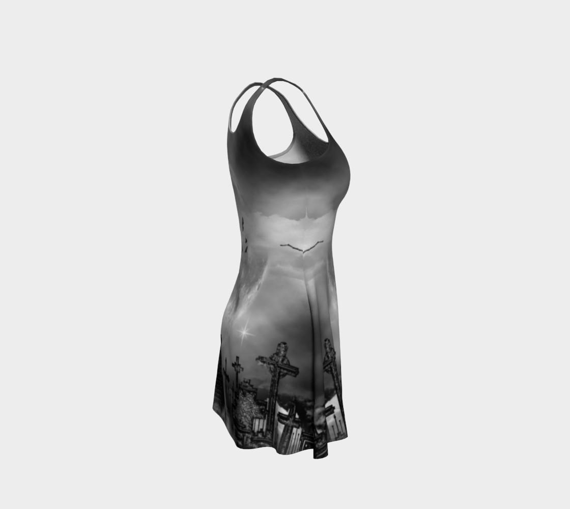 Night Flight Gothic Print Dress by Tabz Jones  preview #4
