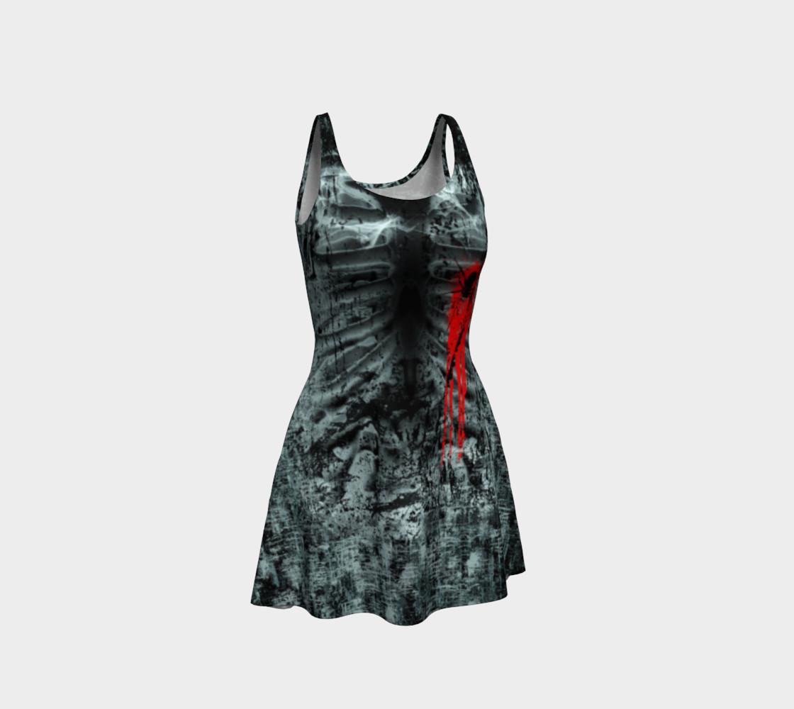 Black Widow Heart Horror Print Dress by Tabz Jones preview #1