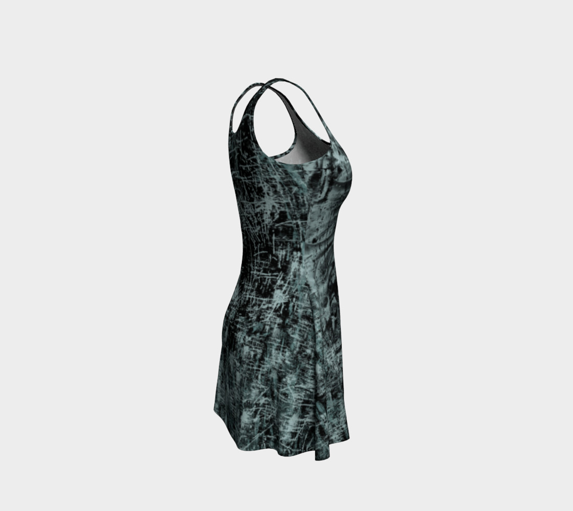 Black Widow Heart Horror Print Dress by Tabz Jones preview #4