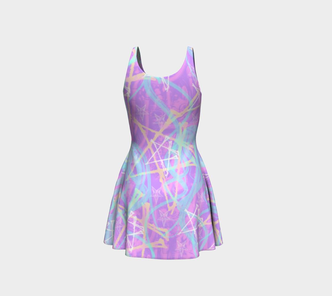 Aperçu de Pastel Pentagram Goth Dress by Tabz Jones #3