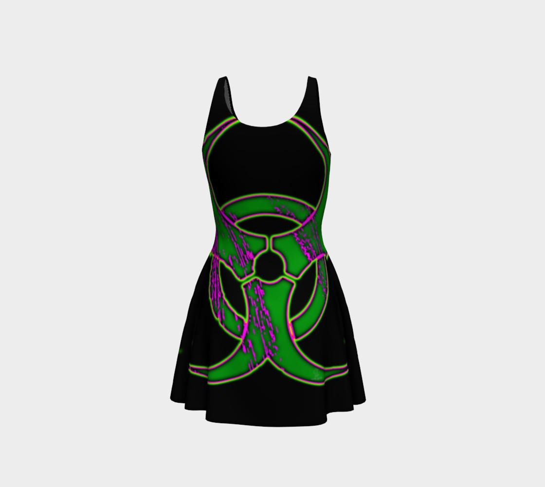 Aperçu de Green Bio Hazard Cyber Goth Dress by Tabz Jones #3