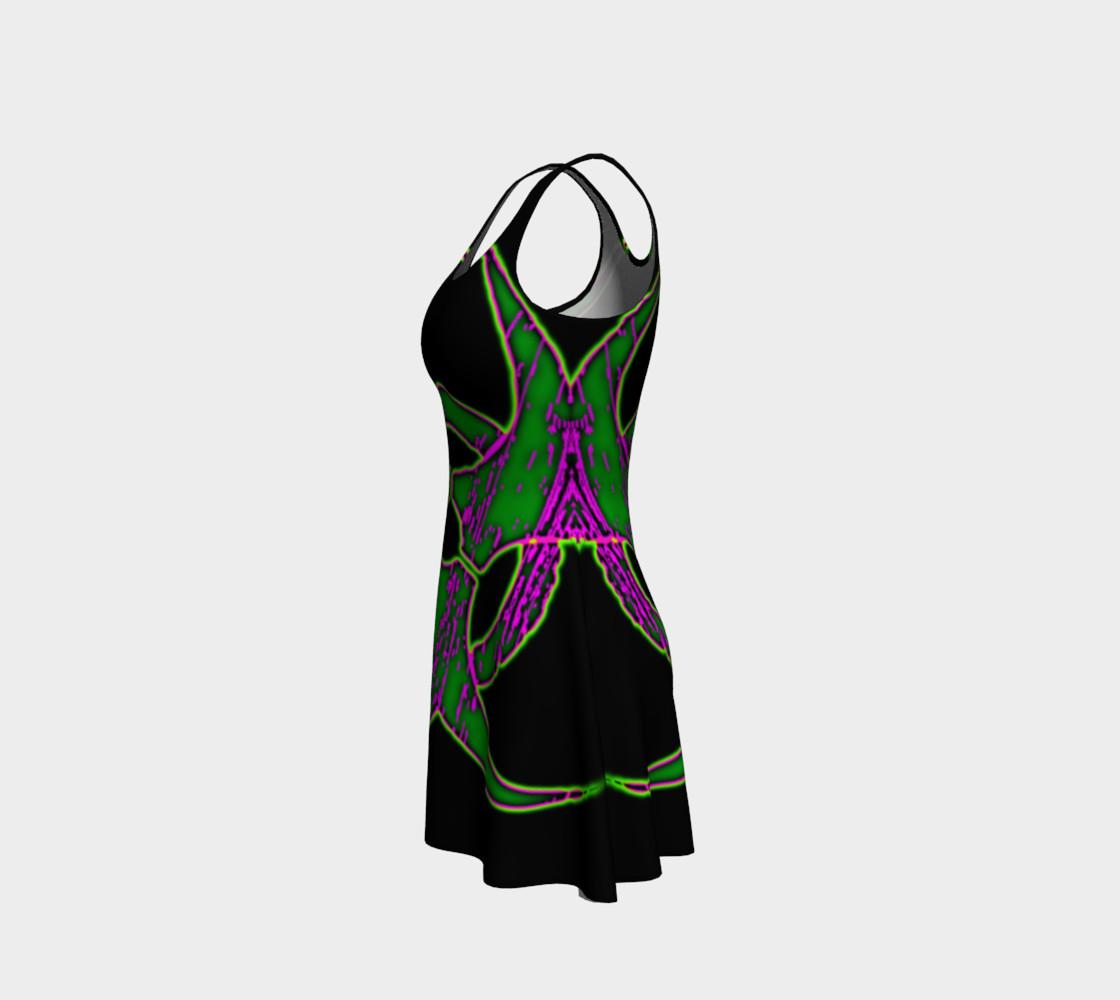 Aperçu de Green Bio Hazard Cyber Goth Dress by Tabz Jones #2