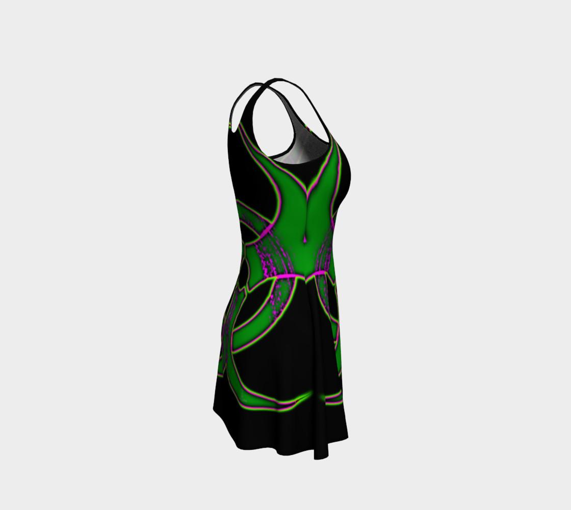 Aperçu de Green Bio Hazard Cyber Goth Dress by Tabz Jones #4